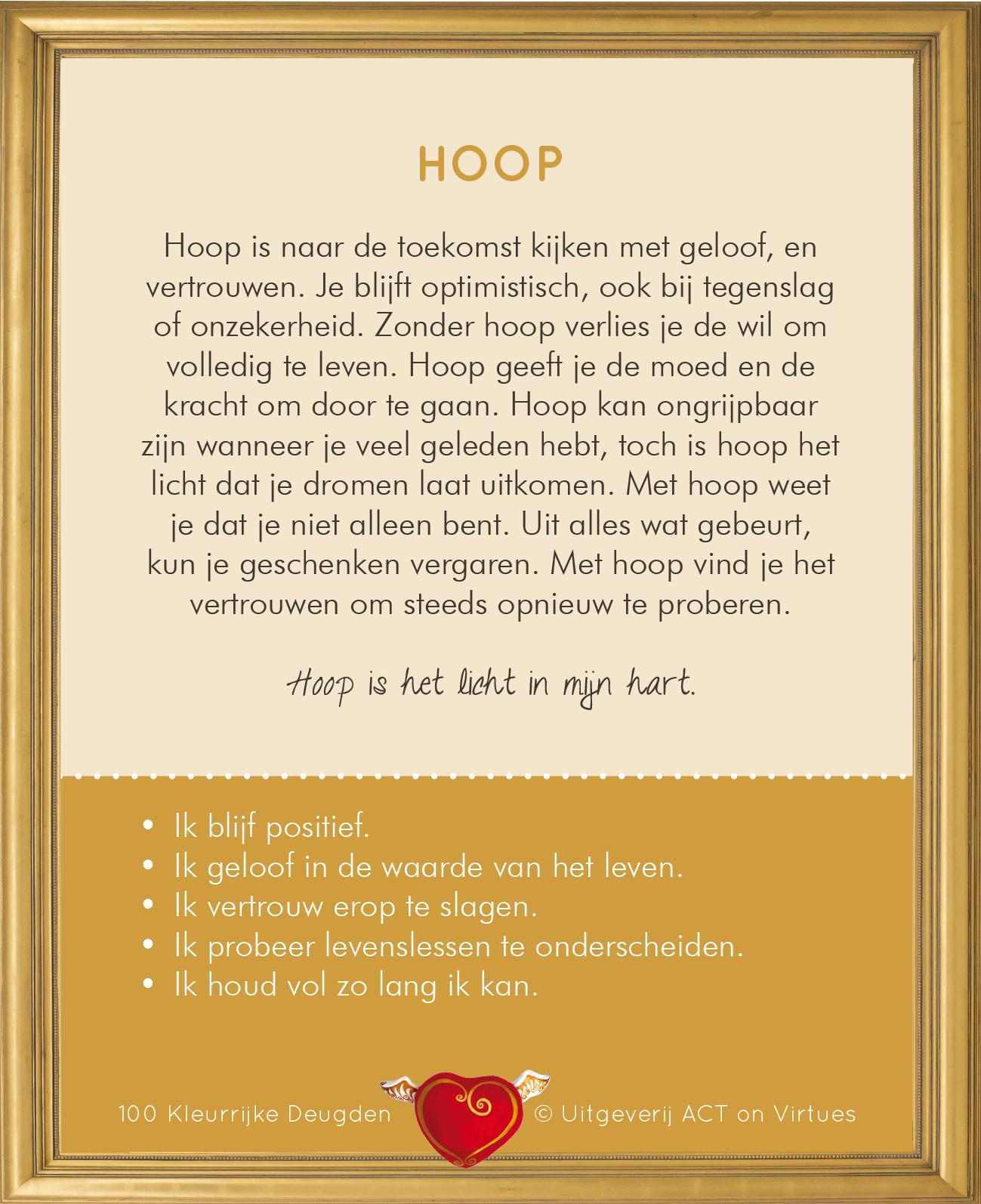 Deugdenkaart Hoop | Doflijnwellness