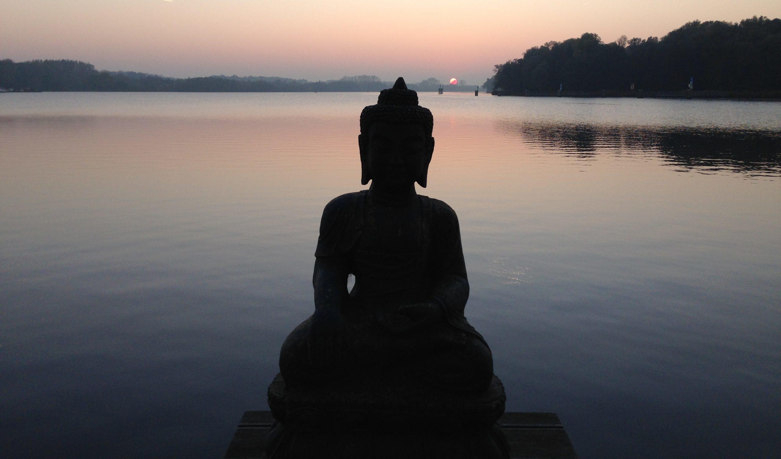 Boeddha met meer op de achtergrond| Dolfijn Wellness